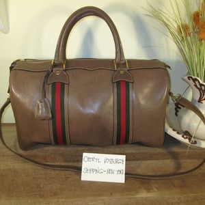 f79abd70635 Gucci. Vintage Cross Body Weekend Travel Bag